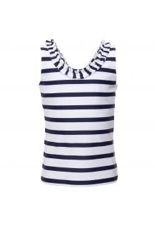 Petit-Crabe---UV-tankini-top---Striped---White/Navy