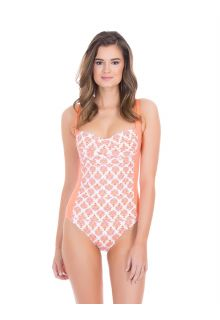 Cabana-Life---UV-resistant-swimsuit-for-ladies---Orange/White