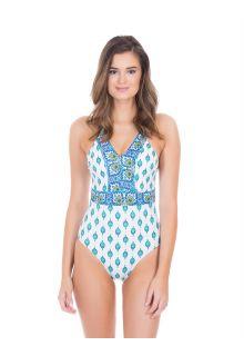 Cabana-Life---UV-resistant-swimsuit-for-ladies---Green/White