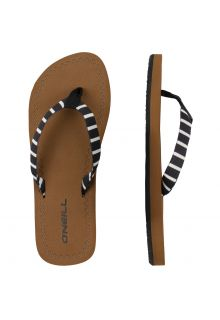 O'Neill---Women's-Flip-flops-with-Fabric-Strap---Black-and-White