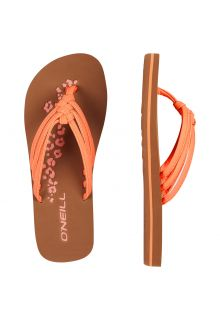 O'Neill---Girls'-Flip-flops---Ditsy---Orange