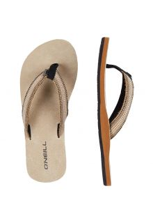 O'Neill---Women's-Flip-flops-with-Fabric-Strap---Beige