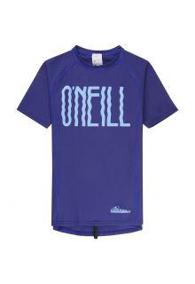O'Neill---short-sleeve-UV-shirt-for-girls---Logo---blue