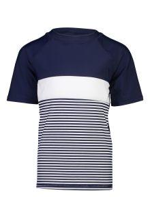 Snapper-Rock---UV-Swim-shirt-for-boys---short-sleeves---Navy-Colorblock
