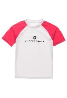 Snapper-Rock---UV-Rash-Top-for-boys---Short-Sleeve---White/Red