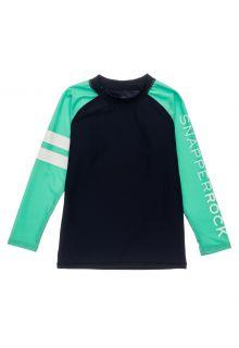 Snapper-Rock---UV-Rash-Top-for-boys---Long-Sleeve---Navyblue/Mint-