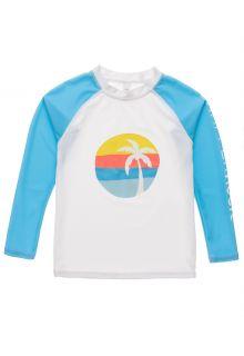 Snapper-Rock---UV-Rash-Top-for-boys---Long-Sleeve---Sunset-Stripe---White/Lightblue-
