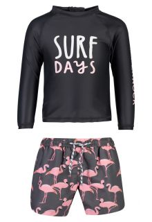 Snapper-Rock---UV-Swim-set-for-babies---Surf-Days---Black/Pink