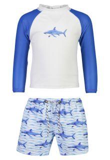 Snapper-Rock---UV-Swim-set-for-babies---School-of-Sharks---White/Blue