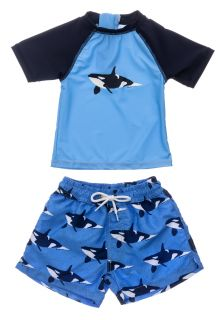 Snapper-Rock---UV-Swim-set-for-baby-boys---Short-Sleeve---Orca-Ocean---Blue
