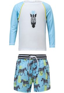Snapper-Rock---UV-Swim-set-with-Boardshorts---Zebra---Blue/White