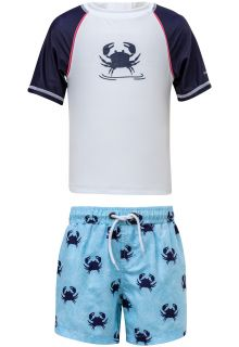 Snapper-Rock---UV-Swim-set-with-Board-Shorts---Blue-Crab---Blue/White