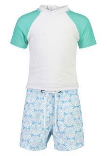 Snapper-Rock---UV-Swim-set-for-babies---Oceania-Sustainable---White