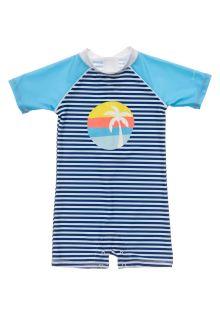 Snapper-Rock---UV-Swim-suit-for-baby-boys---Short-sleeve---Blue/White