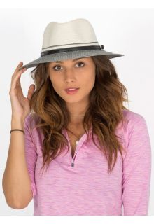 Rigon---UV-Fedora-hat-for-women---Ivory/Black