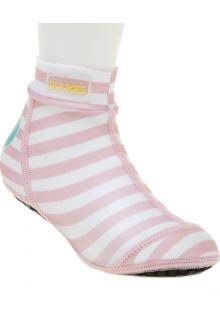 Duukies---Girls-UV-Beach-Socks---Baby-Pink---Pink-striped