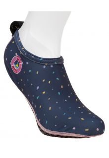 Duukies---Womens-UV-Beach-Socks---Ladies-Confetti-Blue---Dark-Blue