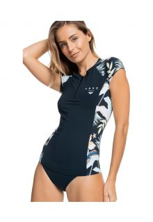 Roxy---UV-Swim-shirt-for-women---Half-Zip-Lycra---Anthracite/Praslin