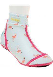 Duukies---Girls-UV-Beach-Socks---Flamingo-Mint---Mint