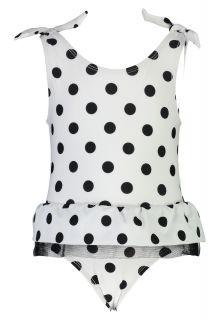 Snapper-Rock---Bathingsuit-for-baby-girls---White/Black