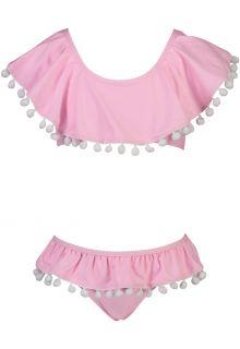 Snapper-Rock---Flounce-Bikini-for-girls---Pom-Pom---Pink