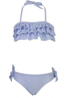 Snapper-Rock---Bandeau-Bikini-for-girls---Stripes---Blue/White