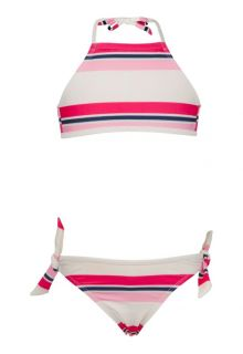 Snapper-Rock---Halter-bikini---Navy/-Pink-Stripe-