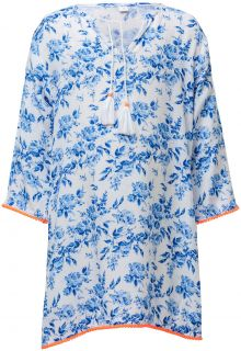 Snapper-Rock---Tunic-for-girls---Cottage-Floral---White/Blue