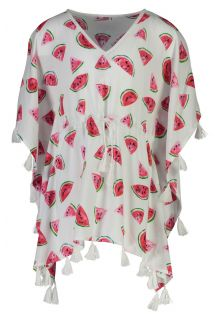 Snapper-Rock---Batwing-Kaftan-for-girls---Watermelon---White