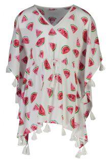 Snapper-Rock---Batwing-Kaftan-for-girls---Watermelon---White