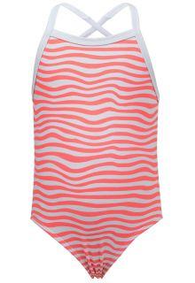Snapper-Rock---UV-bathing-suit---Orange-Crush---White/Orange
