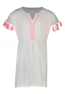 Snapper-Rock---Neon-Tassel-Kaftan-for-girls---White