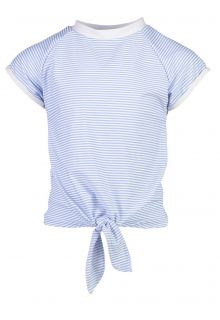 Snapper-Rock---UV-Swim-shirt-with-front-knot-for-girls---Blue/White