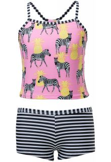 Snapper-Rock---Tankini---Zebra-Crossing---Pink/Black/White