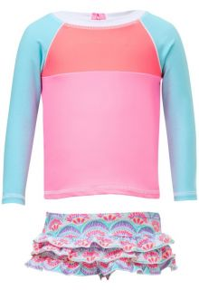 Snapper-Rock---UV-Swim-set-Ruffle-with-long-sleeves---Tutti-Frutti---Pink/Blue