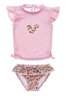 Snapper-Rock---UV-Swim-set-for-baby-girls---Short-sleeve---Leopard-Love---Pink
