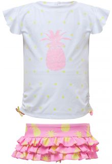 Snapper-Rock---UV-Swim-set-Ruffle---Pineapple-Spot---White/Pink