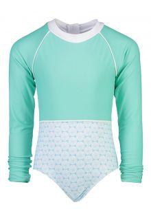 Snapper-Rock---Longsleeve-UV-Bathingsuit-for-girls--Oceania-Sustainable---Aqua