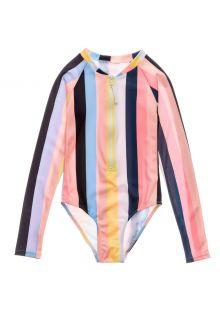 Snapper-Rock---UV-Swim-suit-for-girls---Longsleeve---Opti-Stripe---Multi
