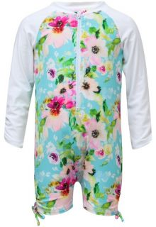 Snapper-Rock---UV-Swimsuit-with-long-sleeves---Watercolor-Floral---Blue/Pink