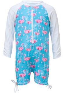 Snapper-Rock---UV-Swimsuit-with-long-sleeves---Blue-Flamingo---Blue/Pink
