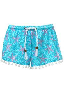 Snapper-Rock---Swim-shorts-for-girls---Ocean-Star---Blue