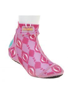 Duukies---Girls-UV-Beach-Socks---Ikat-Pink---Bright-Pink