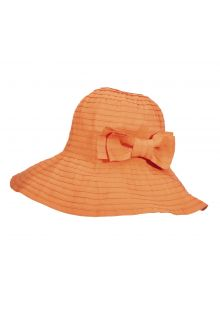 Scala---UV-oprolbare-hat-for-women---Papaya