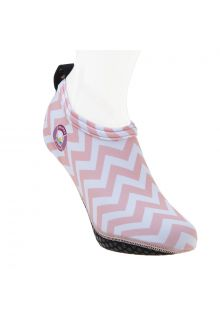 Duukies---Womens-UV-Beach-Socks---Ladies-Zigzag-Pink---Pink-Stripes