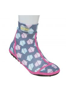 Duukies---Girls-UV-Beach-Socks---Muffin-Grey-Pink---Grey