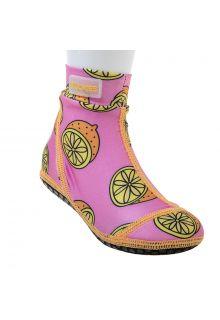 Duukies---Girls-UV-Beach-Socks---Pink-Lemon---Pink