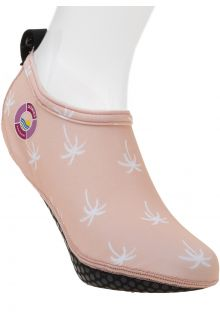 Duukies---Womens-UV-Beach-Socks---Ladies-Palm-Pink---Pink