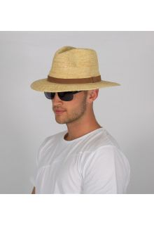 Rigon---UV-fedora-hat-for-men---Natural-/-chocolate-brown
