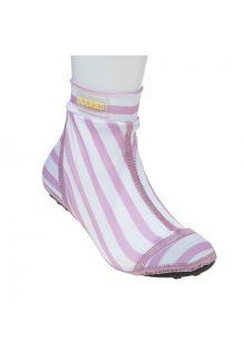 Duukies---Girls-UV-Beach-Socks---Stripe-Pink-White---Pink-Stripes